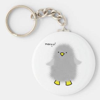 baby-penguin basic round button keychain