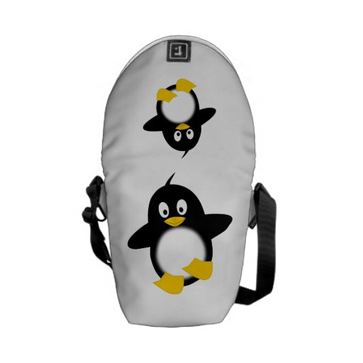 Baby penguin cartoon courier bag