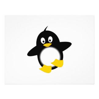 Baby penguin cartoon custom flyer