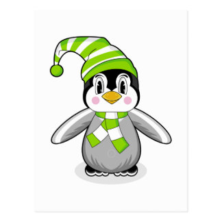 Baby Penguin Christmas Postcard