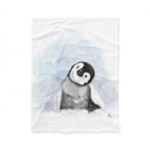 Baby Penguin Fleece Blanket