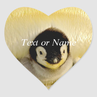 baby penguin heart sticker
