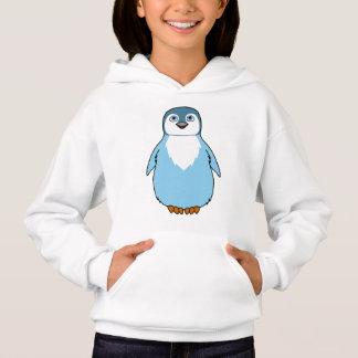 Baby Penguin in Light Blue Hoodie