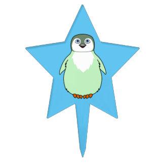 Baby Penguin in Light Green Cake Topper