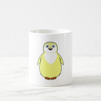 Baby Penguin in Light Yellow Coffee Mug