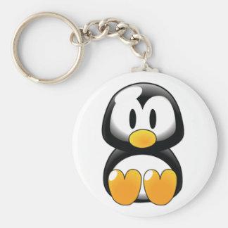 Baby_penguin Llavero Redondo Tipo Pin