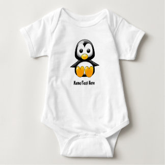 Baby Penguin Name Customize Baby Bodysuit