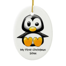 Baby penguin ornament