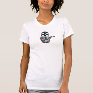 Baby Penguin Playing Colorado Flag Guitar Tshirts