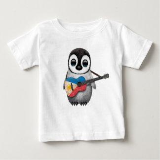Baby Penguin Playing Filipino Flag Guitar Baby T-Shirt