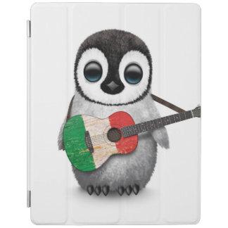 Baby Penguin Playing Italian Flag Guitar iPad Cover