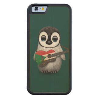 Baby Penguin Playing Sudanese Flag Guitar Teal Carved® Maple iPhone 6 Bumper Case