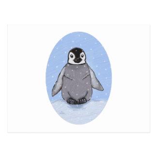 Baby penguin. postcard