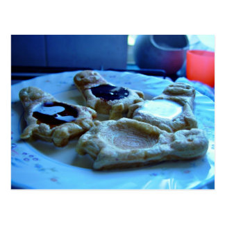 Baby Penguin Shaped Waffles on a plate Postcard