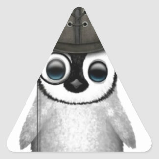 baby penguin top hat triangle sticker