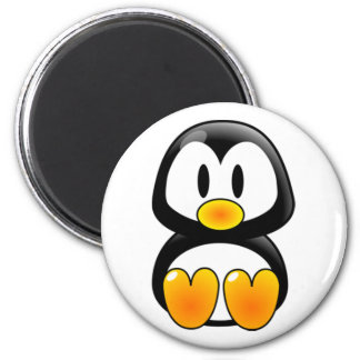 baby penguin tux 2 inch round magnet