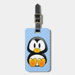 baby penguin tux luggage tag