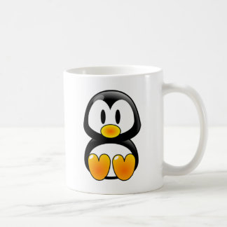 baby penguin tux classic white coffee mug