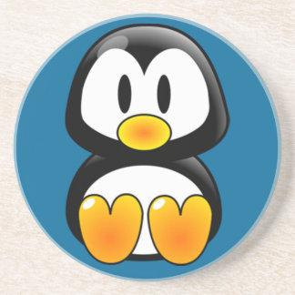 baby penguin tux sandstone coaster
