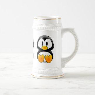 baby penguin tux stein 18 oz beer stein