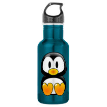 baby penguin tux water bottle