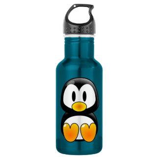 baby penguin tux water bottle