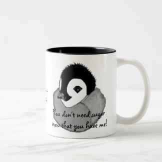 Baby Penguin Two-Tone Coffee Mug