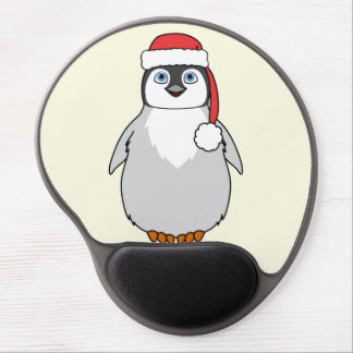 Baby Penguin with Red Santa Hat Gel Mouse Pad