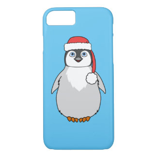 Baby Penguin with Red Santa Hat iPhone 8/7 Case