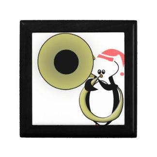 Baby Penguin with Tuba Jewelry Box
