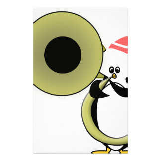 Baby Penguin with Tuba Stationery