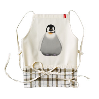 Baby Penguin Zazzle HEART Apron
