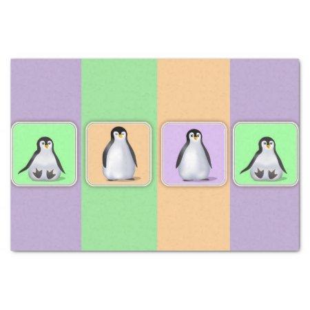 "Baby Penguins 10"" X 15"" Tissue Paper"