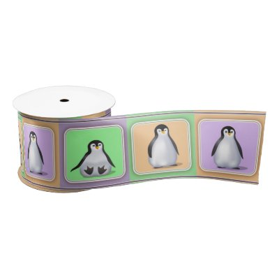 Baby Penguins Satin Ribbon