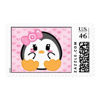 Baby Penquin - Girl Postage