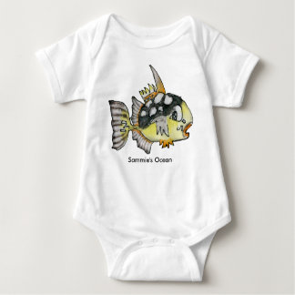 Baby Personalized Infant Trigger Fish Baby Bodysuit