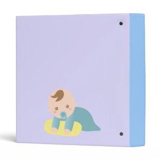 Baby Photo Album - Stork Delivers Cute Baby Boy Binder