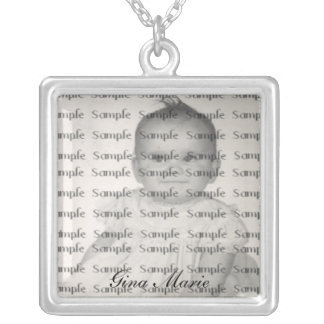Baby Photo and Name Necklace