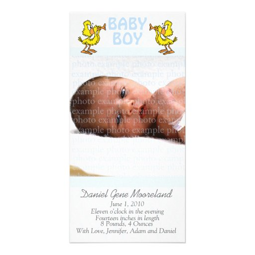 Baby Photo Announcement Cards Photo Card
