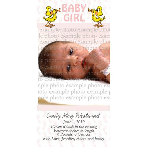 Baby Photo Announcement Cards photocard