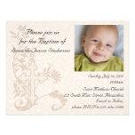 Baby Photo Baptism Invitation