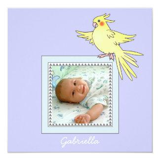 Baby Photo Bird Birth Announcement