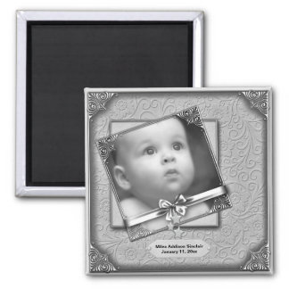 Baby Photo Birth Announcement Magnets