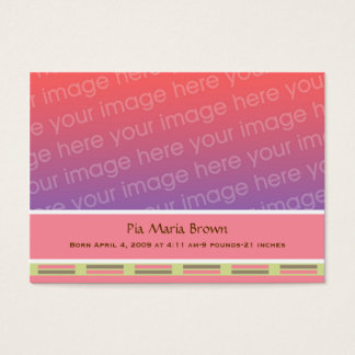 Baby Photo Birth Announcements Business Card