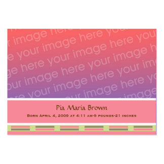 Baby Photo Birth Announcements Large Business Card