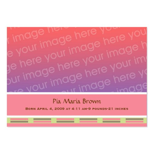 Baby Photo Birth Announcements Large Business Card : Zazzle