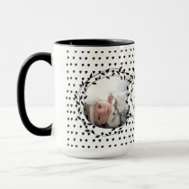 Baby Photo Birth Record Baby Girl Stats Mug