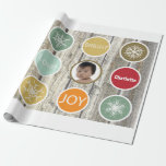 Baby Photo Christmas Holiday PEACE JOY Gift Wrapping Paper