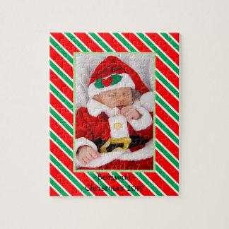 Baby Photo Jigsaw w Christmas Frame Jigsaw Puzzle