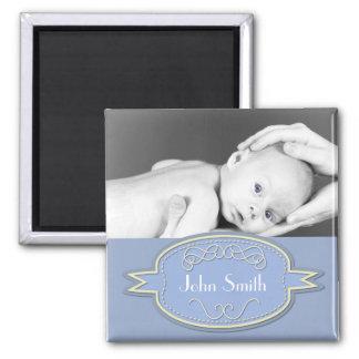 Baby Photo Keepsake - Blue Fridge Magnets